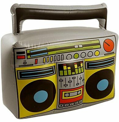 Inflatable Boombox Blow Neon Music Stereo Prop Decoration Novelty Fancy 1980's