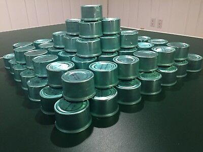 Lot 99 Empty Clean Blue Tin Cans Crafts Crafting Art Supply Supplies Candles