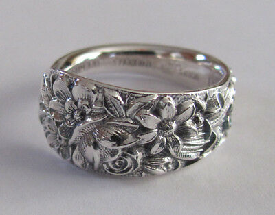 Sterling Silver Spoon Ring - Kirk & Son / Repoussé - size 10 1/2 - c. 1914