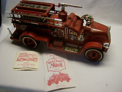 Vintage 1917 Mack Bulldog Fire Truck Decanter by Regal China USA