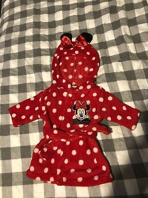 Girls Dressing Gown 0-3 Months Disney Minnie Mouse