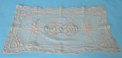 Vintage Older French Lace Doily Net Repair Study