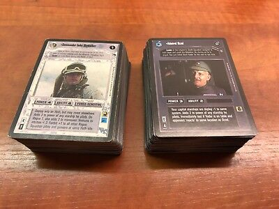 Star Wars CCG SWCCG Hoth Limited Edition complete 162 card set