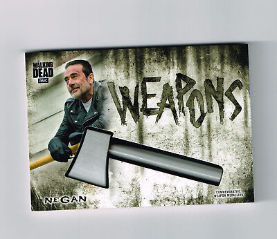 2018 Topps Walking Dead Hunters Negan Weapon Medallion Card + Various Inserts