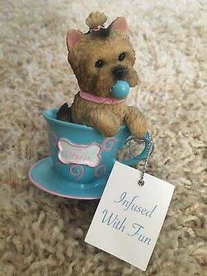 "Collectable Yorkie ""Infused With Fun"" from Brimming with Personalizes-Tea"