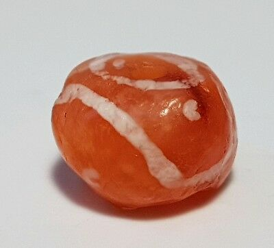 Ancient Rare Pyu Kushan Etched Carnelian Agate Bead