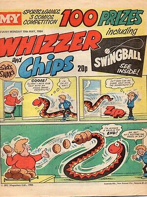 Whizzer and Chips Comic 19th May1984 - Sid's Snake/ Joker /Lazy Bones/Odd Ball
