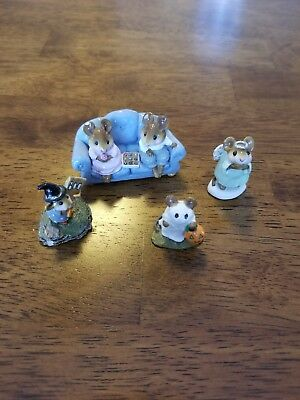 Wee Forest Folk Lot of (4) Assorted Retired Mice
