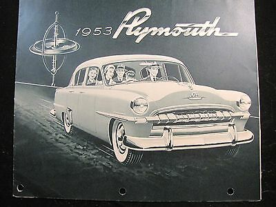 1953 Plymouth Full Line Original Fold Out Brochure