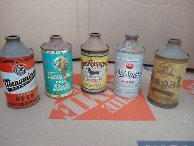 beer cans vintage cone top menominee tacoma frankenmuth cold spring regal