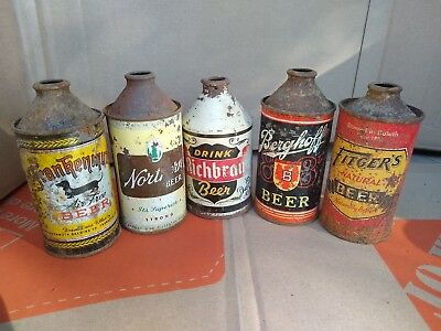 beer can vintage cone top frankenmuth northern richbru berghoff fitger's