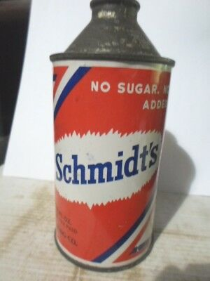 1941 Schmidt's  Cone Top Beer  Can / Detroit Michigan -[Read Description]-