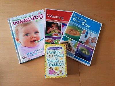 Weaning Books x 3 and Recipe Cards