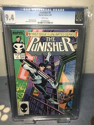 The Punisher #1 CGC 9.4 NM Marvel 1987 Ongoing Series