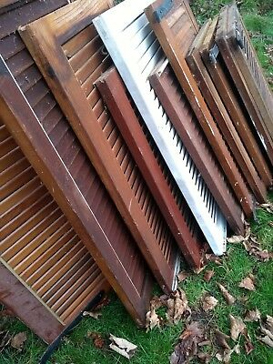 Selection of Wooden timber House Shutters Louvered Painted lacquered
