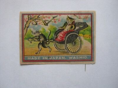 Old Japanese Cat Matchbox Label.design 5.