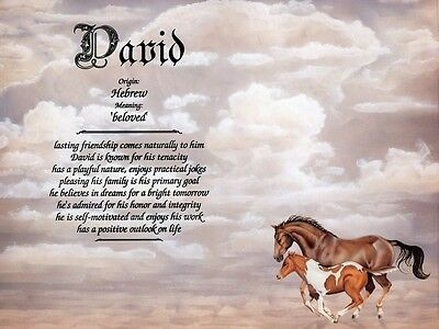"""""""Horses"""" Name Meaning Print Personalized (Animals Nature)"""