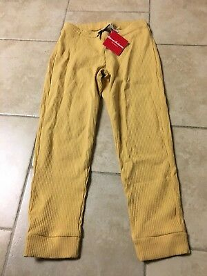 NWT Hanna Andersson Golden Yellow Capri Leggings/pants, Girls Size 150 (12)