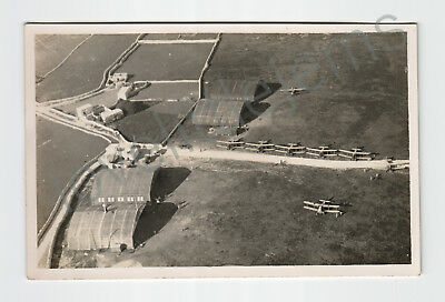 c1932 Photograph Unidentified Aircraft on the ground hangers