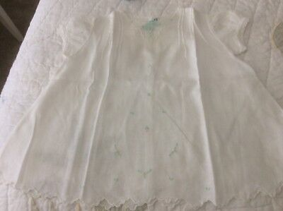 Vintage White Embroidered Baby Dress