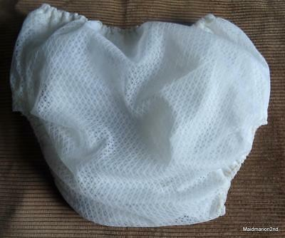 Vintage White Nylon Lace - Plastic Lined - Baby Panties Knickers New