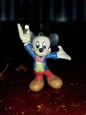 Handcrafted Magician Mickey Mouse Wooden Ornament by Anri 1989