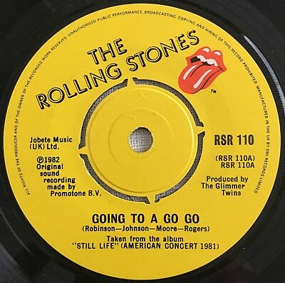 "The Rolling Stones, Going To. Go Go, Classic Rock, 45RPM Vinyl Single (7"")"