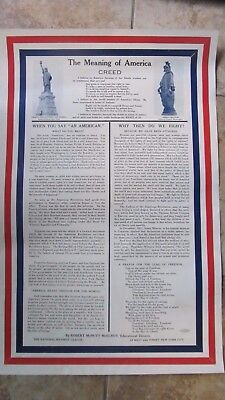 Perfect Antique PATRIOTIC WWI Liberty Poster, WHY DO WE FIGHT, Statue of Liberty