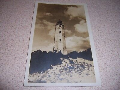 1930s OLD CAPE HENRY LIGHTHOUSE VIRGINIA RPPC POSTCARD