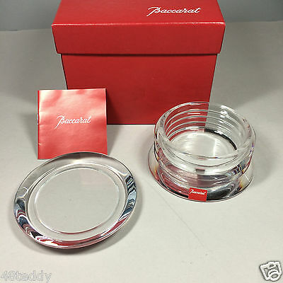 Baccarat Crystal LALANDE Round Box- New In Box