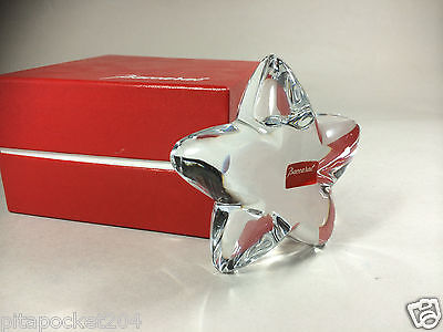 Baccarat Crystal Puffed Star New in Box