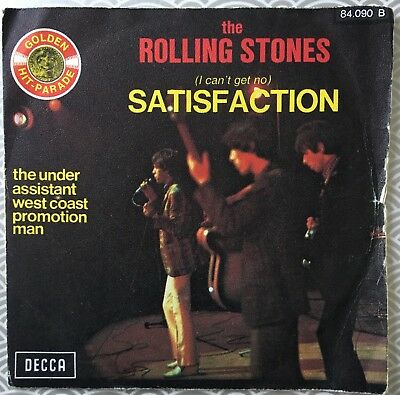 "The Rolling Stones, I Can't Get No Satifaction, Classic Rock, 45RPM Vinyl, (7"")"