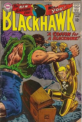 "BLACKHAWK - ""Coffin for a BLACKHAWK"" DC #235 AUG 1967 - GOOD condition"