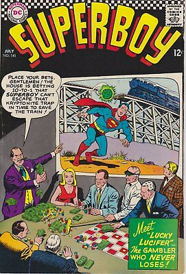 "SUPERBOY - ""Meet Lucky Lucifer"" DC Comics #140 July 1967 - VERY GOOD condition*"