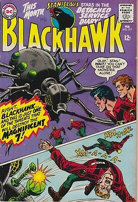 "BLACKHAWK - ""Vengenance of the Doom Makers"" DC #217 Feb 1966 - VERY GOOD"