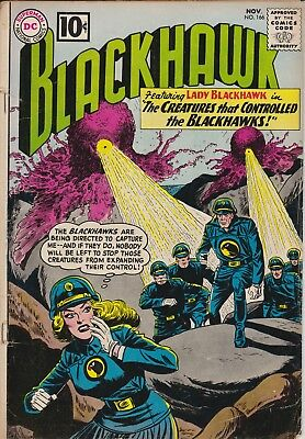 "BLACKHAWK - ""Creatures That Controlled the Blackhawks"" DC #166 Nov 1961 GOOD"