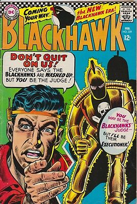 "BLACKHAWK - ""The Junk-Heap Heroes"" DC #229 Feb 1967 - FINE condition"