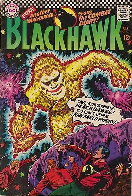 "BLACKHAWK - ""The Man from E=mc2"" DC #222 July 1966 - VERY GOOD condition"