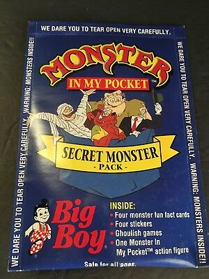 MONSTER IN MY POCKET MATCHBOX 1992 BIG BOY EXCLUSIVE RARE SEALED ADVERTISING 90s