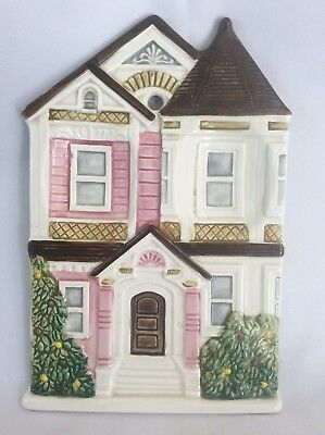 Otagiri Japan Pink Row House Victorian Home Wall Hanging Spoon Rest Utensil