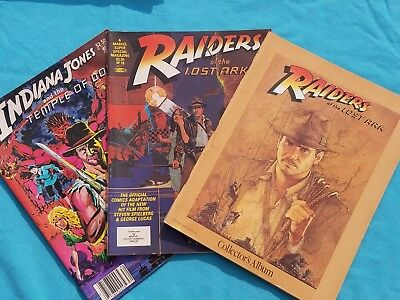 Raiders of the Lost Ark, 2 Comics and 1 Collector's Album