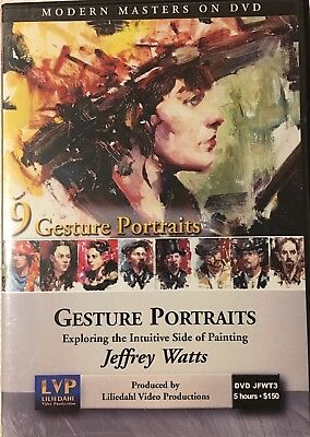 9 Gesture Portraits Intuitive Side of Painting Jeffrey Watts Art Instruction DVD