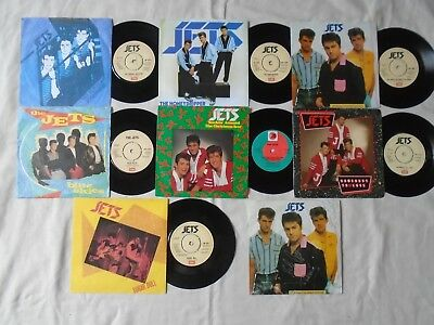 """Rockabilly 7"""" -Joblot The Jets X 7 + Sleeve Signed By Band **"""