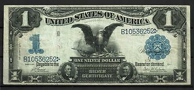 1899 U.S. $1 One Silver Dollar (Lg Silver Certificate) Fr. 226 | Writing on Back