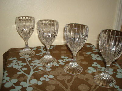 "MIKASA  ' Park Lane '  Nice  Set of 4 CRYSTAL WINE GOBLETS GLASSES 6,1/4""tall"