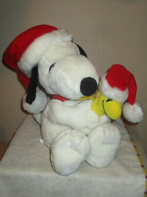 Holiday Snoopy and Woodstock Peanuts Santa Applause Christmas 18""