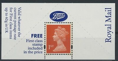 GB 1994 Machin 1st class stamp Boots label unmounted mint MNH