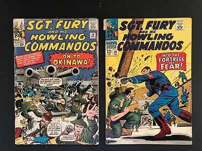 Sgt Fury and his Howling Commandos #10, #39 Kirby 1st Capt Savage
