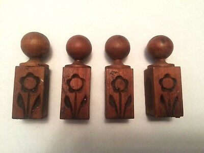 Lot of 4 Gilbert cabinet clock finials