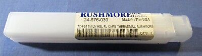Rushmore 7/16-20 Helical Flute Carbide Thread Mill w/TiAlN